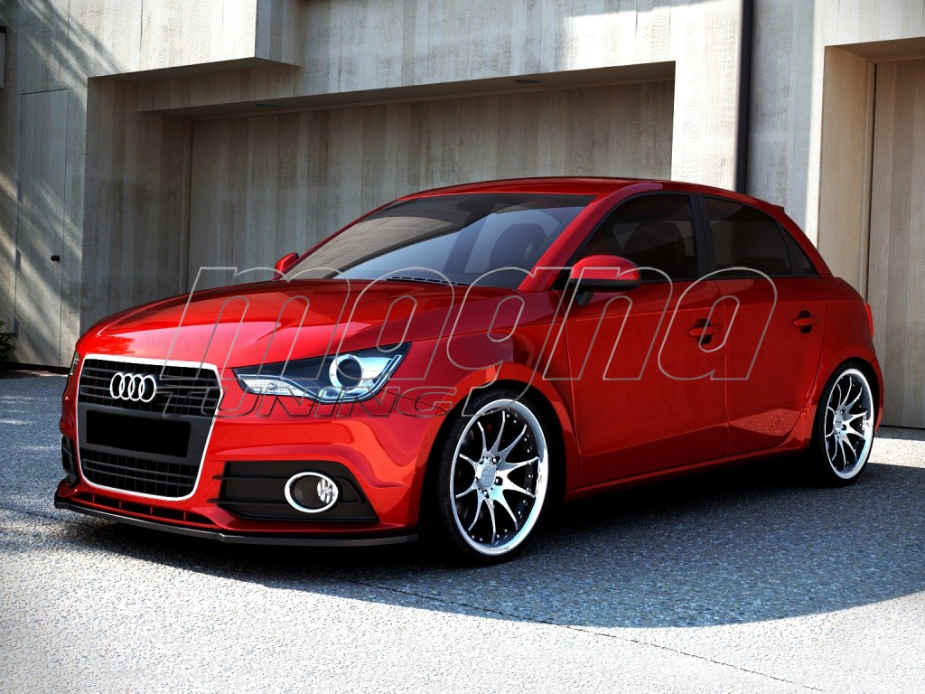 audi a1 8x mx front bumper extension. Black Bedroom Furniture Sets. Home Design Ideas
