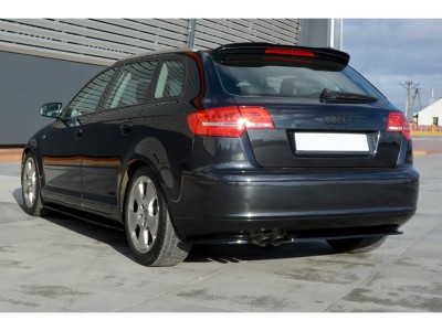 Audi A3 8P Facelift Matrix Rear Bumper Extension