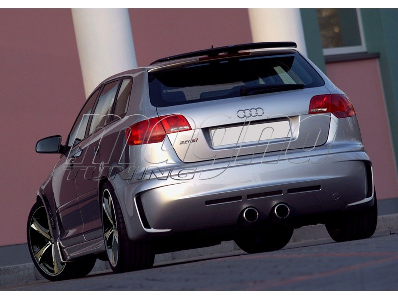 audi a3 8p sportback r2 rear bumper extension