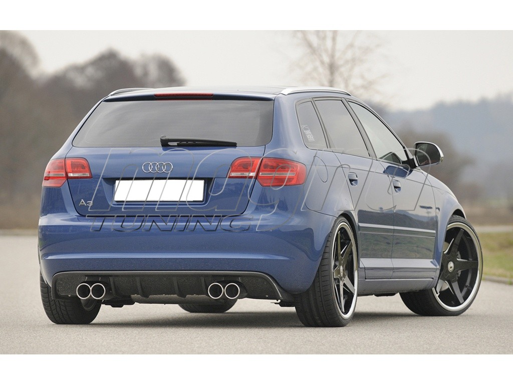 audi a3 8p sportback recto rear bumper extension. Black Bedroom Furniture Sets. Home Design Ideas