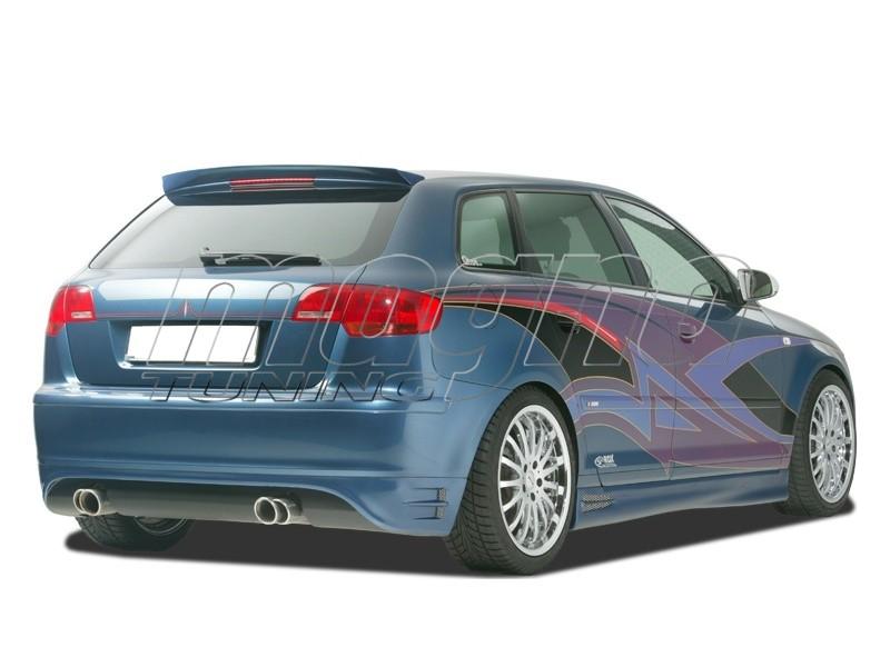 Audi A3 8p Sportback Singleframe Rear Bumper Extension