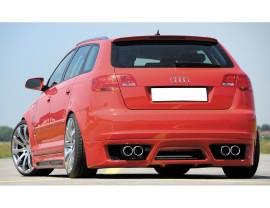 Audi A3 8P Sportback Vortex Rear Bumper Extension
