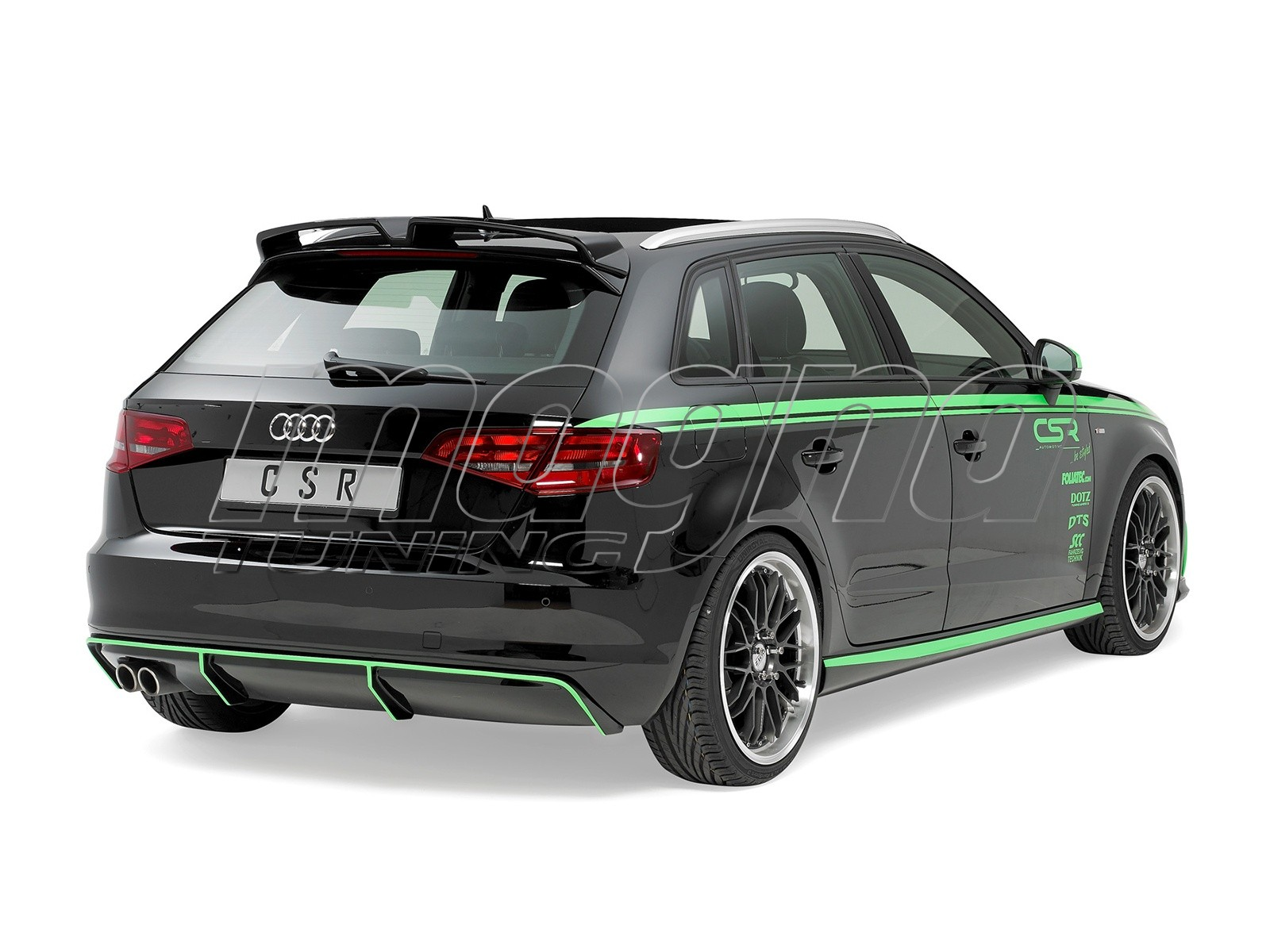 audi a3 8v newline rear bumper extension. Black Bedroom Furniture Sets. Home Design Ideas