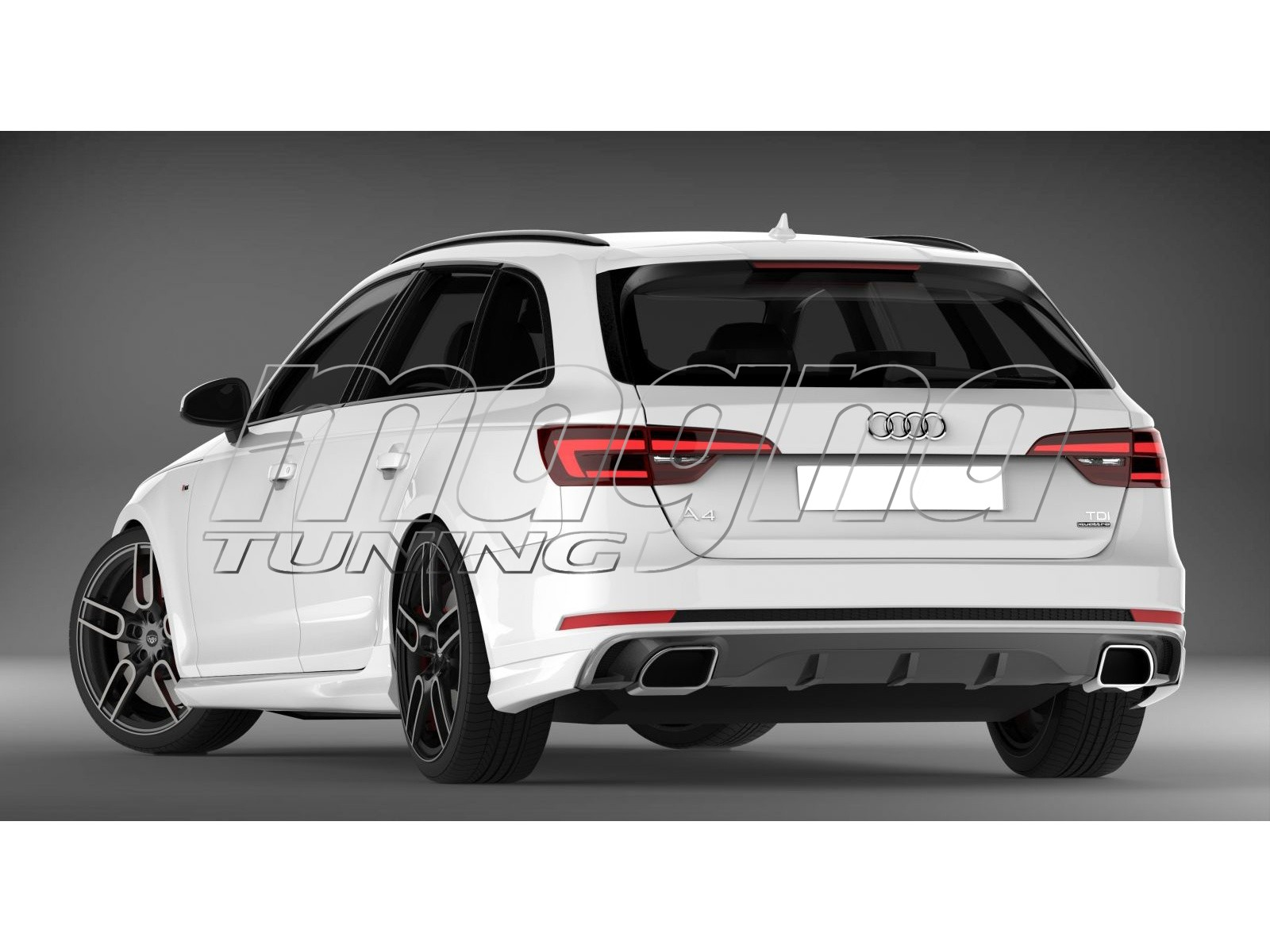 Audi A4 B9 / 8W C2 Rear Bumper Extension