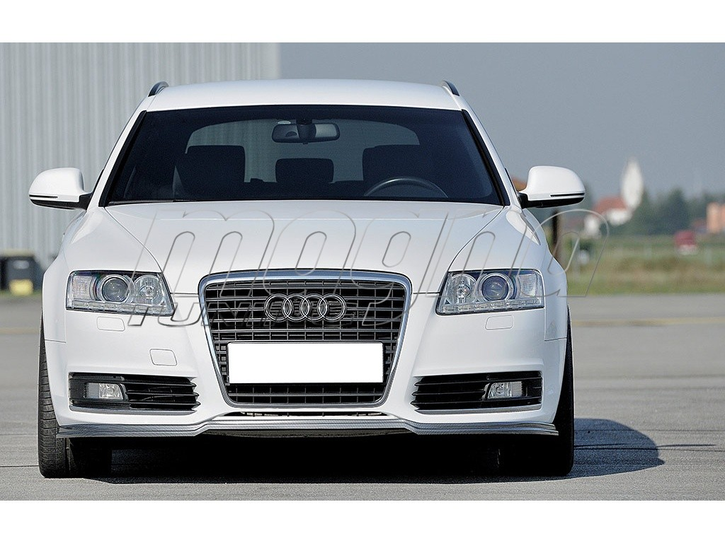 Audi a6 c6 4f facelift recto front bumper extension for Audi a6 4f interieur