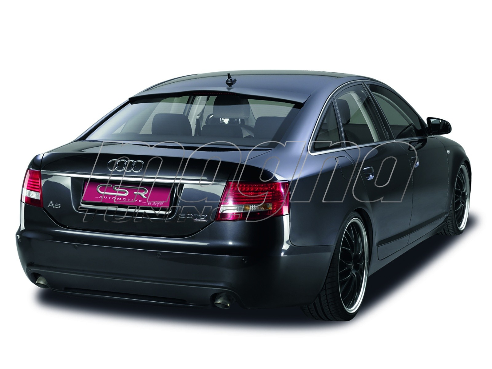 Audi a6 c6 4f limousine xl line rear bumper extension for Audi a6 4f interieur