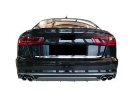Audi A6 C7 / 4G Facelift S6-Look Rear Bumper Extension