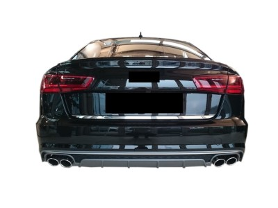 Audi A6 C7 / 4G Facelift S6-Look Rear Bumper Extension