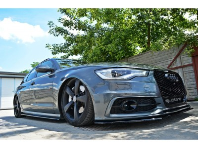 Audi A6 C7 / 4G MX Side Skirt Extensions