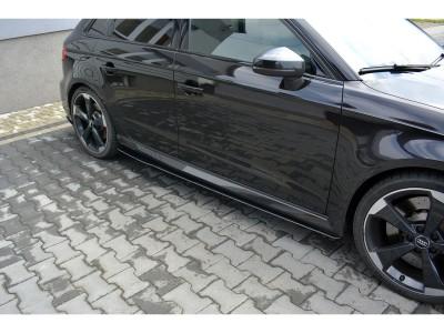 Audi RS3 8V RaceLine Side Skirt Extensions