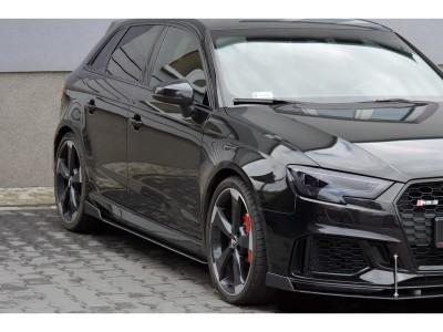 Audi RS3 8V RaceLine2 Side Skirt Extensions