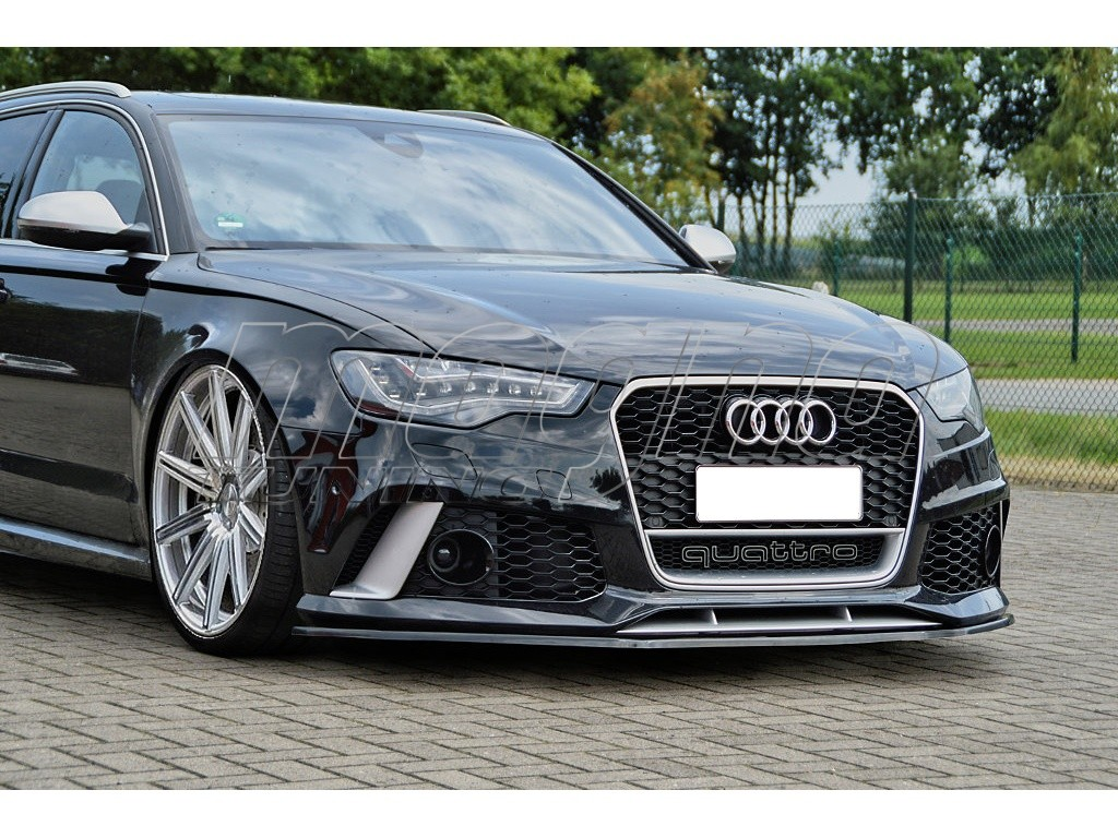 audi rs6 c7 4g intenso front bumper extension. Black Bedroom Furniture Sets. Home Design Ideas