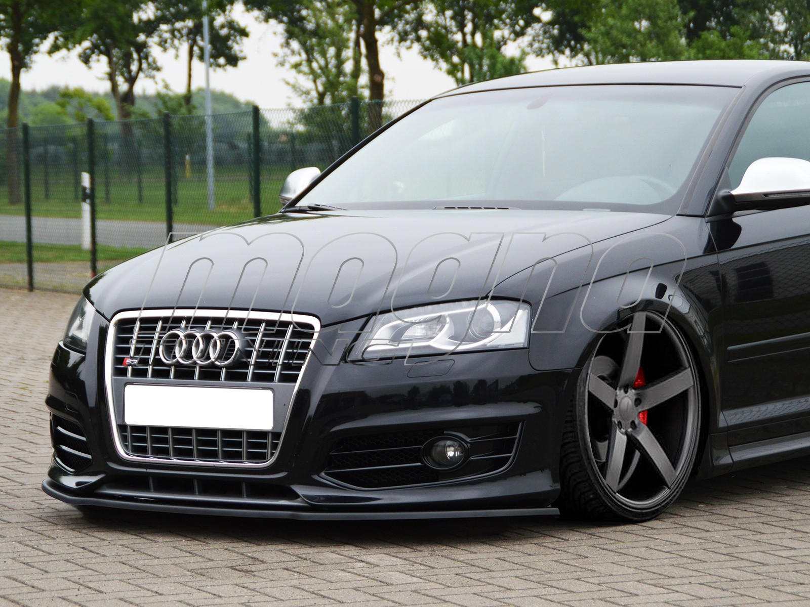 audi s3 8p intenso front bumper extension. Black Bedroom Furniture Sets. Home Design Ideas