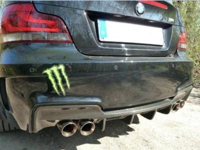 BMW E82 1M DTM-Style Carbon Heckansatz