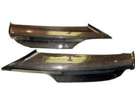 BMW E90 / E91 Razor Carbon Fiber Front Bumper Extensions