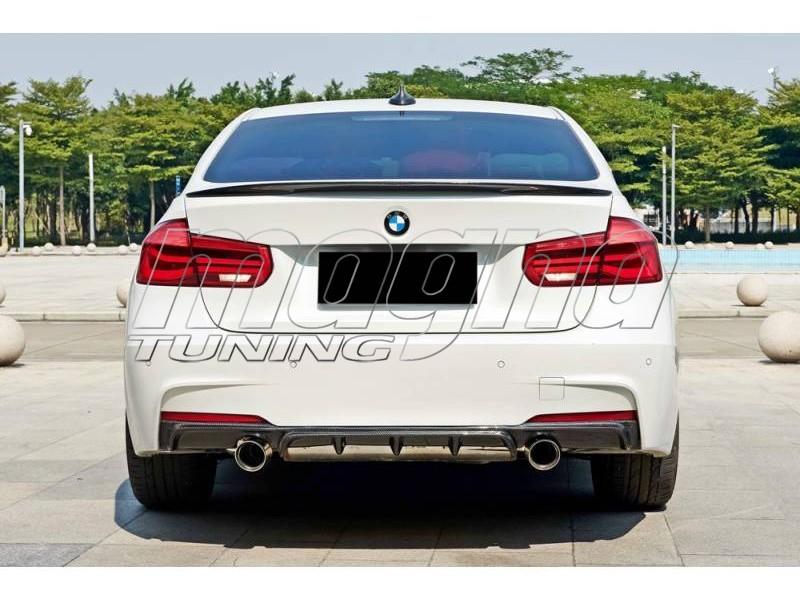 BMW F30 / F31 335i Exclusive Carbon Fiber Rear Bumper Extension