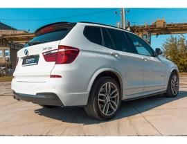 BMW X3 F25 MX Rear Bumper Extensions