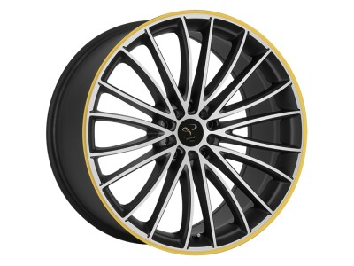 Barracuda Le Mans Matt Black Polished/CTY Wheel
