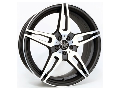 Barracuda Starzz Matt Black Polished Wheel
