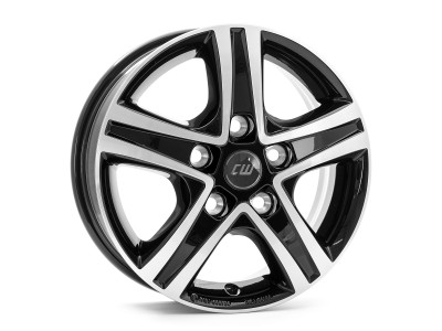 Borbet Commercial CWD Black Glossy Polished Wheel