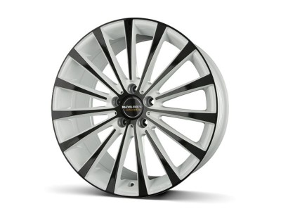 Borbet Premium BLX White Black Glossy Wheel