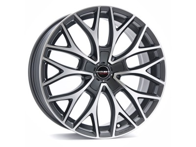 Borbet Premium DY Dark Grey Polished Matt Wheel