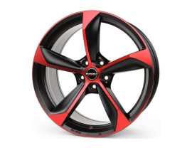 Borbet Premium S Black Red Matt Felge