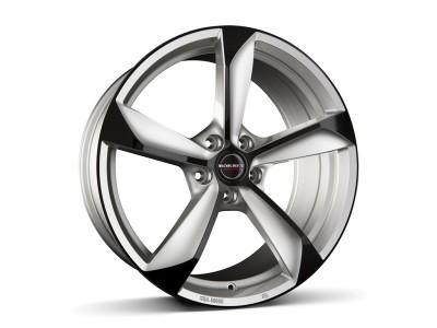 Borbet Premium S Silver Black Glossy Wheel