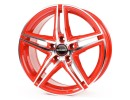 Borbet Premium XRT Racetrack Red Polished Felge