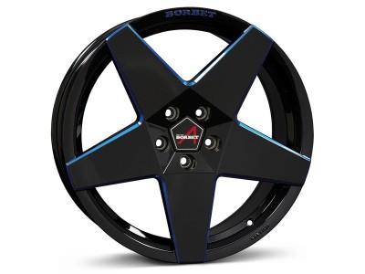 Borbet Sports A Black Blue Glossy Wheel