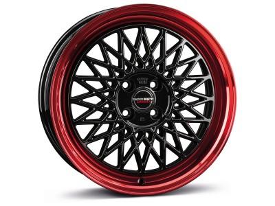 Borbet Sports B Black Rim Red Wheel