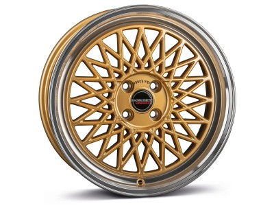 Borbet Sports B Gold Rim Polished Wheel