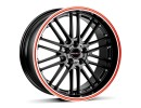 Borbet Sports CW2 Black Red Line Wheel