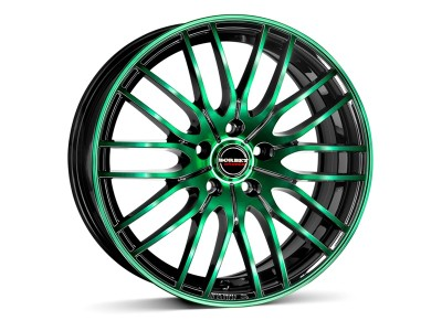 Borbet Sports CW4 Black Green Wheel