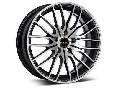 Borbet Sports CW4 Black Polished Wheel