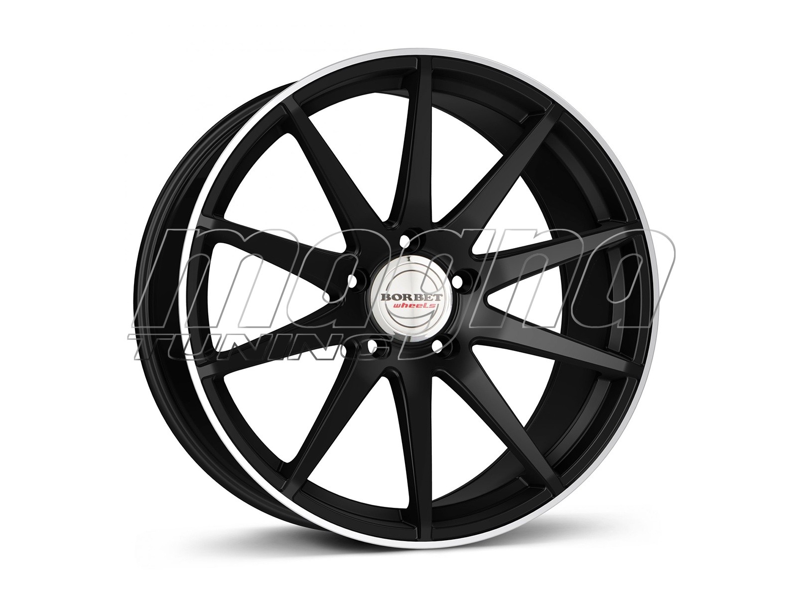 Borbet Sports GTX Black Rim Polished Matt Felge