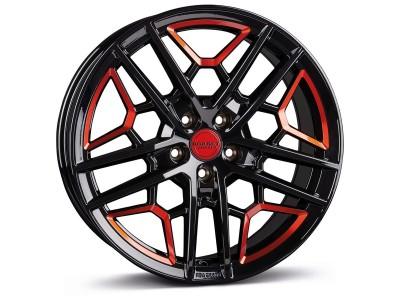 Borbet Sports GTY Black Red Glossy Wheel