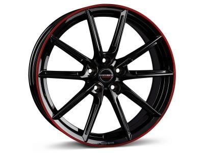 Borbet Sports LX Black Glossy Rim Red Wheel