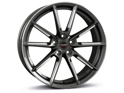 Borbet Sports LX Graphite Spoke Rim Polished Wheel