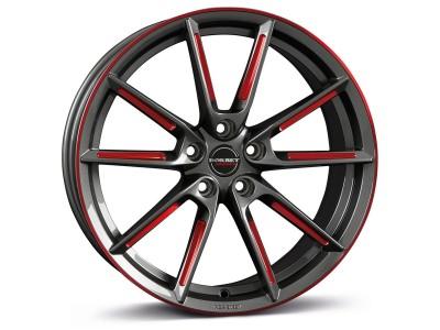 Borbet Sports LX Graphite Spoke Rim Red Polished Wheel