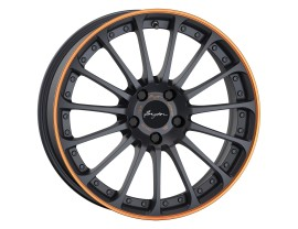 Breyton Magic CW Matt Grey Orange Anodize Lip Felge