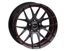 Breyton Race GTS-R Janta Matt Black Red Undercut 17x7 5x112 ET48 PROMO