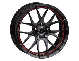 Breyton Race GTS-R Matt Black Red Undercut Felge 17x7 5x112 ET48 PROMO
