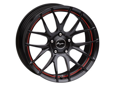 Breyton Race GTS-R Matt Black Red Undercut Wheel 17x7 5x112 ET48 PROMO
