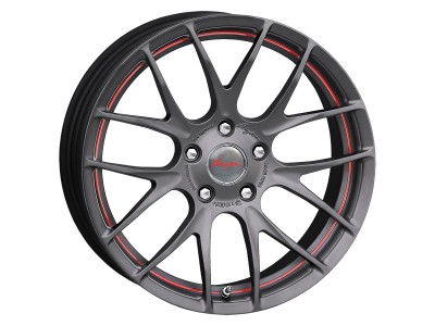 Breyton Race GTS-R Matt Gun Red Undercut Wheel 17x7 4x100 ET40, 48 PROMO