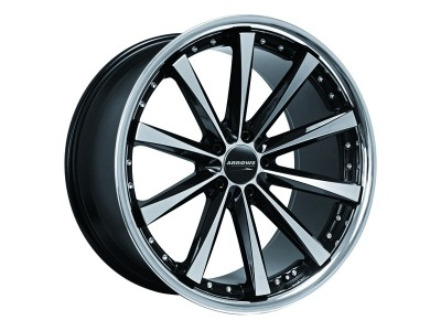 COR.SPEED Arrows Higloss Black Polished Inox Lip Wheel