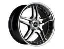 COR.SPEED Vegas Higloss Black Polished Inox Lip Wheel
