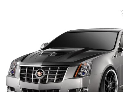 Cadillac CTS Stingray-Look Carbon Fiber Hood