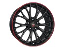 Etabeta Piuma Black Red Felge
