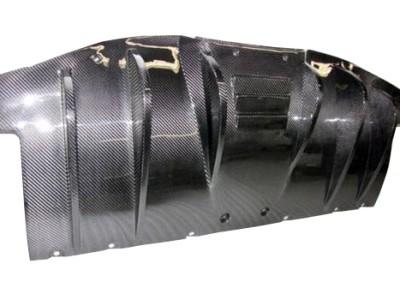Ferrari F458 Italia DTM Carbon Fiber Rear Bumper Extension